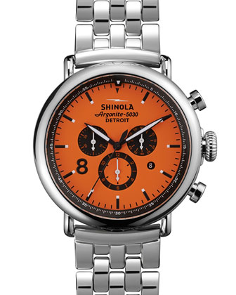 47mm Runwell Sport Chronograph Watch, Orange