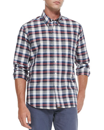 Tuscumbia Plaid Button-Down Shirt, Red