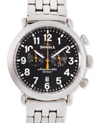41mm Runwell Men's Chronograph Watch, Stainless Steel/Black Dial