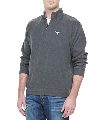 University of Texas Longhorn 1/4-Zip Fleece, Charcoal