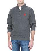OU 1/4-Zip Fleece, Charcoal