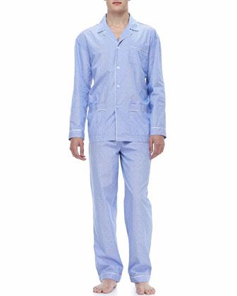 Classic Men's Pajamas, Gingham Dobby
