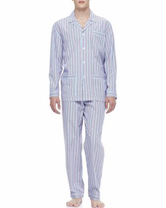 Classic Men's Pajamas, Red/Blue