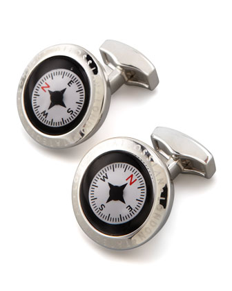 Functional Compass Cuff Links