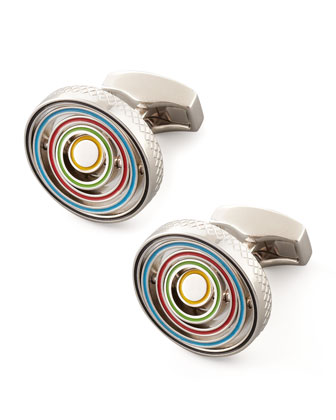 Swivel-Ring Cuff Links
