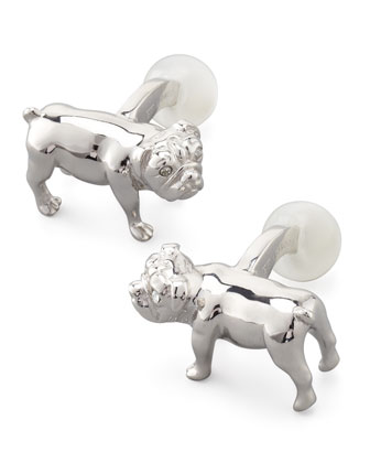 Animal Stiff Bar Cuff Links, Pooch