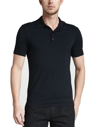 Solid Stretch Polo, Navy