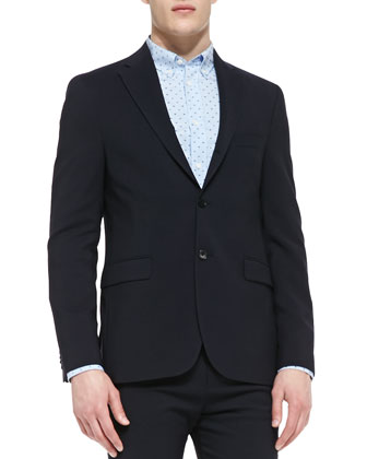 Drifter Two-Button Suit Jacket, Long-Sleeve Swiss Dot Shirt & Drifter Suit ...