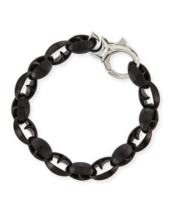Steel Thorn Link Bracelet