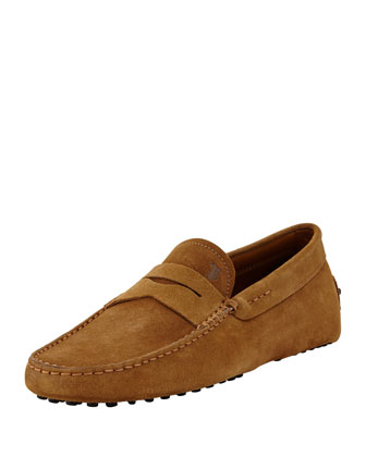 Suede Leather Driver, Light Brown