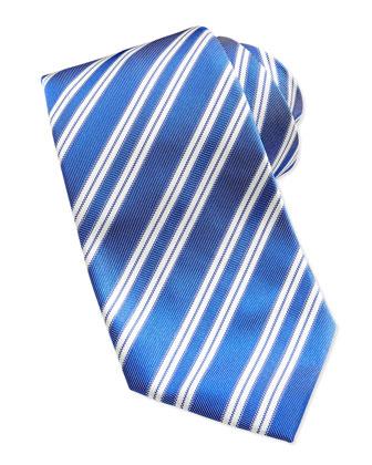Rep Striped Silk Tie, Blue
