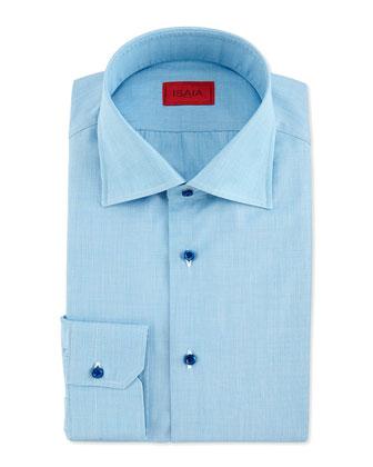 End-on-End Woven Dress Shirt, Aqua