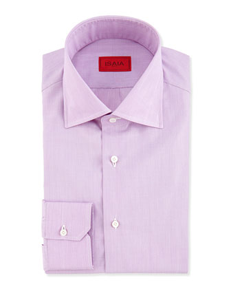 End-on-End Woven Dress Shirt, Light Purple