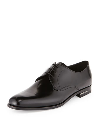 Spazzolato Lace-Up Dress Shoe