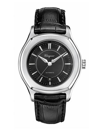 44mm Lungarno Automatic Watch, Black