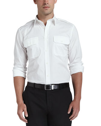 Two-Pocket Military Shirt