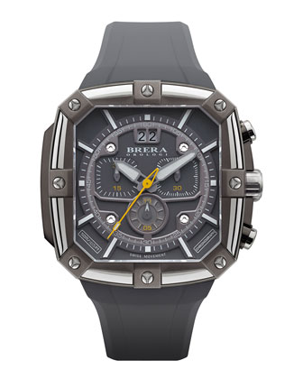46mm Supersportivo Square Watch, Dark Gray