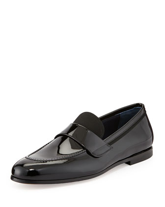 Roxy Patent Leather Loafer, Black