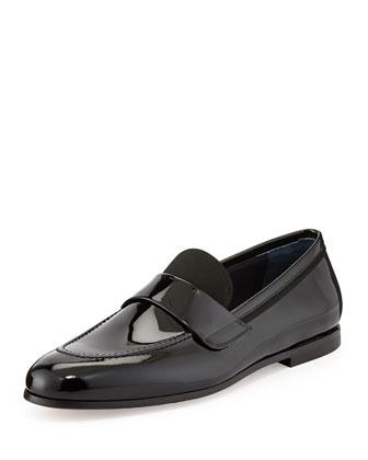 Roxy Patent Leather Loafer, Black