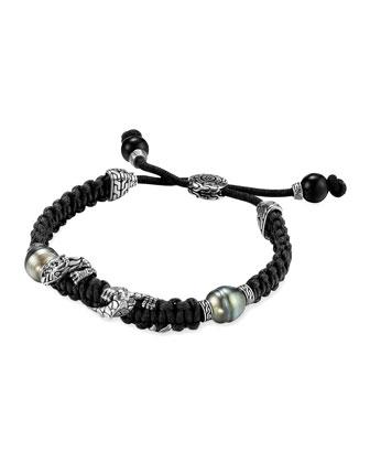 Men's Naga Silver Dragon Station Bracelet
