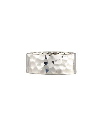 Palu Hammered Silver Men's Ring