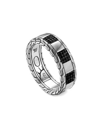 Men's Classic Chain Silver Slim Band Ring, Size 10