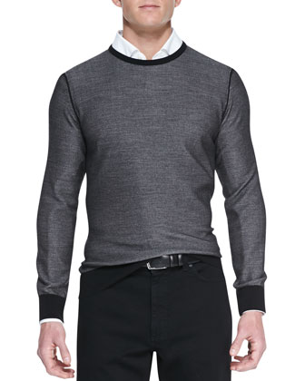 Crewneck Athletic Sweater