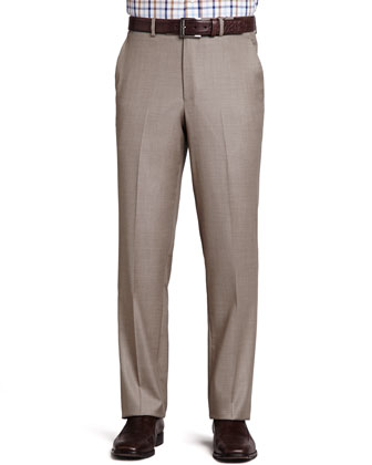 Italian Wool Pants, Tan