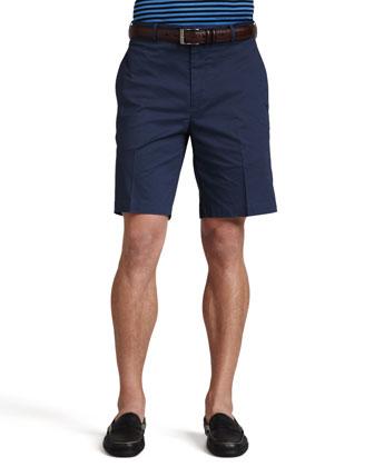 Stretch-Twill Shorts, Navy