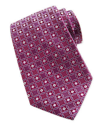 Fancy Box-Neat Tie, Purple