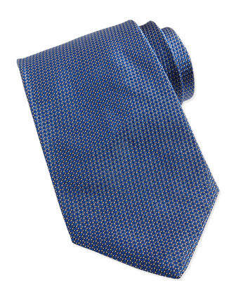 Textured Micro-Dot Tie, Bright Blue