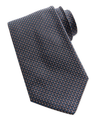 Textured Dot-Neat Tie, Gray