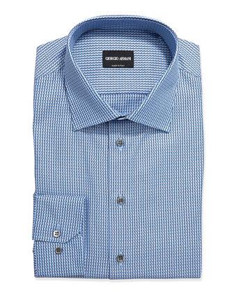 Textured Neat Dress Shirt, Blue/Navy