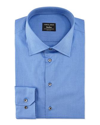 Basic Cotton Dress Shirt, French Blue