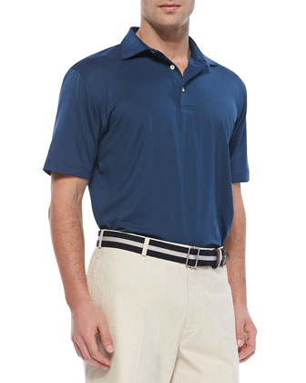 Performance E4 Solid Polo, Navy