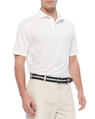 Performance E4 Solid Polo, White