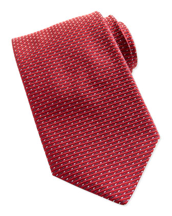 Textured Dot-Neat Tie, Red