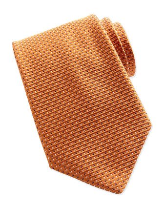 Textured Dot-Neat Tie, Orange