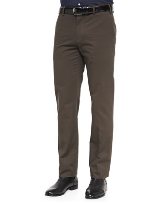 Classic Twill Trousers, Brown