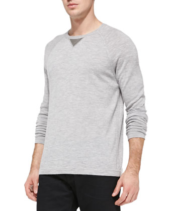 Wool/Cashmere Long-Sleeve Sweatshirt
