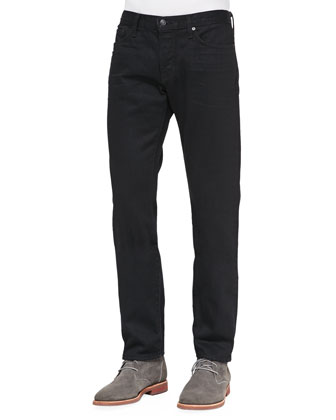 Black-Rinse Selvedge Denim Jeans