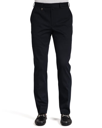 Cotton Gabardine Pants, Navy