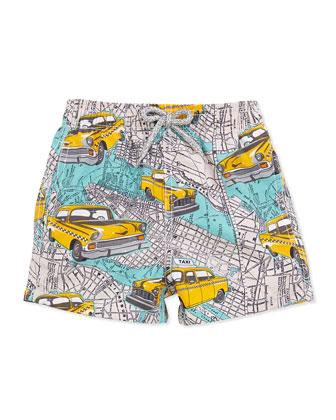 Boy's New York City Swim Trunks, Multi, Sizes 2-6