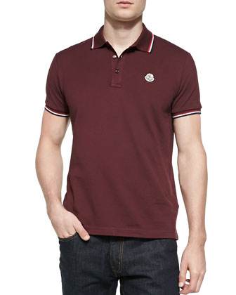 Tape-Tipped Polo Shirt