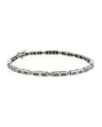 Black Sapphire Men's Bracelet