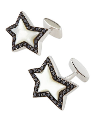 Rock Star Sterling Cuff Links