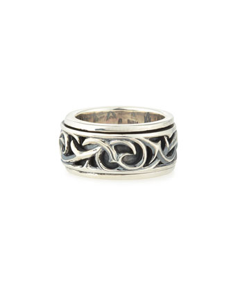 Carved Thorn Rotating Ring