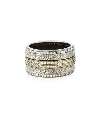 Men's Sapphire & Diamond Pave Ring