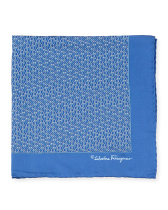 Gancini Silk Pocket Square