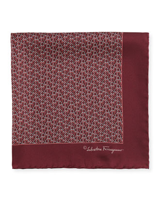 Interlock-Gancini Pocket Square, Bordeaux